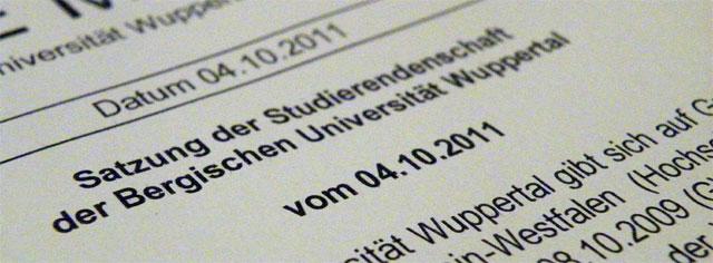 Neufassungen der Satzung der Studierendenschaft