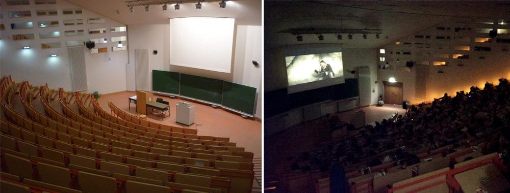 Wenn der Hörsaal zum Kinosaal wird © Unikino