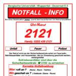 Infos zum Uni-Notruf.