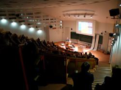 Ohne die Romanisten wäre er ziemlich leer: Hörsaal 14 am Tag des Studiums