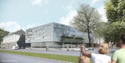 Geplanter Neubau am Haspel © kadawittfeldarchitektur GmbH, Aachen