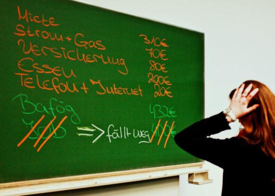Geldprobleme im Praxissemester © vk