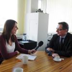 Lisa Jülich im Gespräch mit WSW-Geschäftsführer Ulrich Jaeger