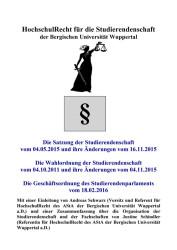 Die Satzungsbroschüre von Andreas Schwarz