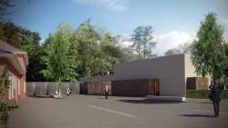 """Entwurf des Johannes Rau-Zentrums © """"hks Jochen König Architekten + Gesamtplaner"""