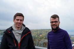 Bastian Politycki (l.) und Maurice Dzillack (r.) © mw