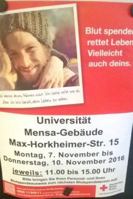 Blutspendetermine an der Uni Wuppertal
