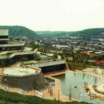 """Blick von Osten auf den damaligen """"Uni-Teich"""" im Frühjahr 1977. Foto: Uni-Pressestelle"""